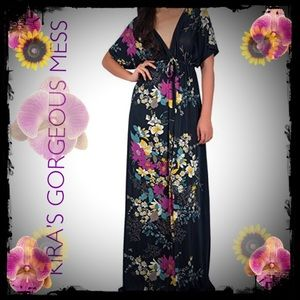 Dresses & Skirts - ✨🌹✨BNWT FLORAL EMPIRE MAXI DRESS✨🌹✨ PLUS SIZE🌹✨